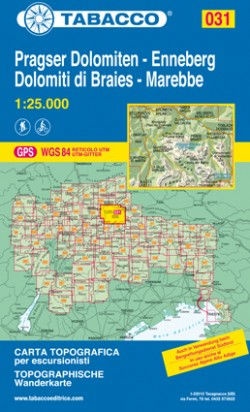 Wandelkaart Dolomiten Blad 031 - Pragser Dolomiten - Enneberg/ Dolomiti di Braies - Marebbe (GPS)
