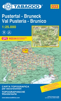 Wandelkaart Dolomiten Blad 033 - Pustertal-Bruneck / Val Pusteria - Brunico (GPS)
