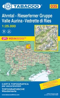 Wandelkaart Dolomiten Blad 035 - Ahrntal-Rieseferner Gruppe/ Valle Aurina (GPS)