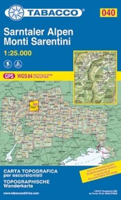 Wandelkaart Dolomiten Blad 040 - Sarntaler Alpen / Monti Sarentini  (GPS) 2016