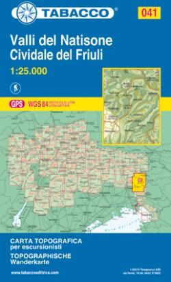 Wandelkaart Dolomiten Blad 041 - Valli del Natisone / Cividale del Friuli  (GPS)