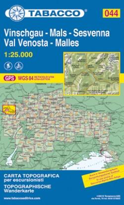 Wandelkaart Dolomiten Blad 044 Vinschgau-Mals-Sesvenna / Val Venosta (GPS)