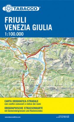 Wegenkaart Friuli-Venezia Giulia 1:100.000 (grote kaart)