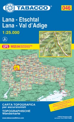 Wandelkaart Dolomiten Blad 046 Lana-Etschtal / Lana-Val d'Adige (GPS)