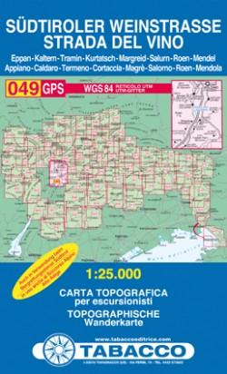 Blad 049 Südtiroler Weinstrasse 1:25.000 (GPS) 2015