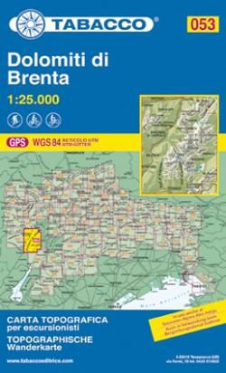 Wandelkaart Dolomiten Blad 053 Dolomiti di Brenta 1:25.000 (GPS) 2019