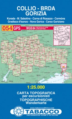 Wandelkaart Tabacco Blad 054 Collio-Brda-Gorizia (GPS)