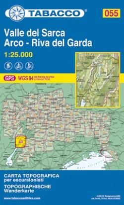 Wandelkaart Tabacco Blad 055 - Valle del Sarca/ Arco - Riva del Garda (GPS)