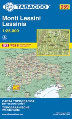 Wandelkaart Tabacco Blad 059 Monti Lessini/Lessinia  (GPS)