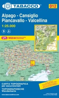 Wandelkaart Dolomiten Blad 012 - Alpago - Cansiglio 1:25.000 (2017)