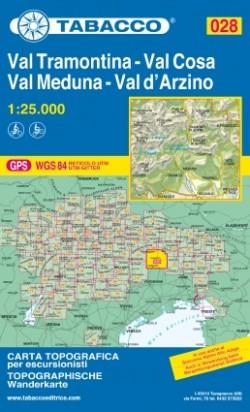 Wandelkaart Dolomiten Blad 028 - Val Tramontina-Val Cosa-Val D'Arzino 1:25.000 (2018)