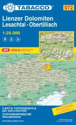 Wandelkaart Dolomiten Blad 072 - Lienzer Dolomiten 1:25.000 (GPS) 2019