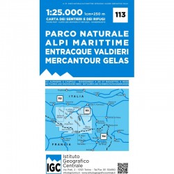Wandelkaart Italiaanse Alpen Blad 113 - Parco Naturale Alpi Marittime Mercantour 1:25.000