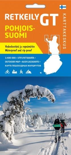 Fietskaart GT Retkeily Noord Finland  Pohjois-Suomi 1:400.000
