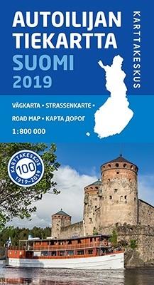 Wegenkaart Autoilijan /Tiekartta Suomi/Finland 1:800.000 (2019)