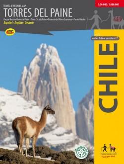Trekking kaart Torres del Paine 1:50.000/1:100.000