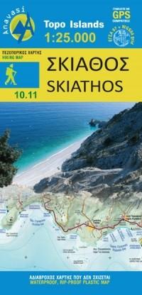 Wandelkaart Topo Islands Skiathos 1:25.000 (Sporades (10.11)