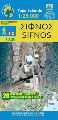 Wandelkaart Topo Islands Sifnos 1:25.000 Aegean Cyclad. (10.26)
