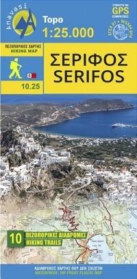 Wandelkaart Serifos 1:25.000 Aegean Cyclades (10.25)