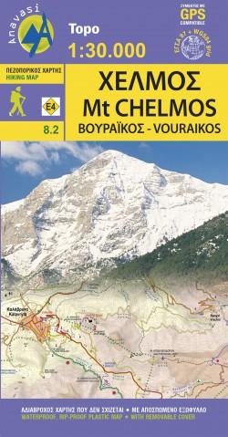 Wandelkaart Topo 30 Mt. Chelmos-Vouraikos  (8.2)