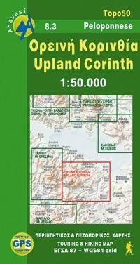 Wandelkaart Topo 50 Upland Corinth (8.3)