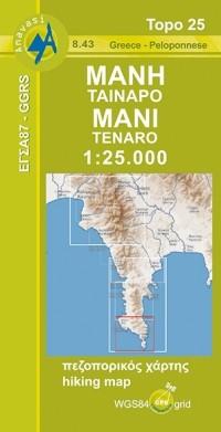 Wandelkaart Mani/Tenaro 1:25.000 (8.43)
