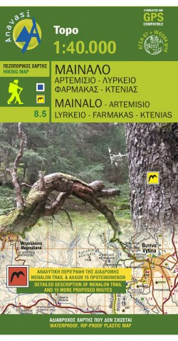 Wandelkaart Topo 40 Mt. Mainalo - Artemisio (8.5)