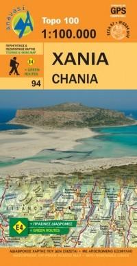 Wandelkaart Topo 100 Crete/Kreta-Chania (94)