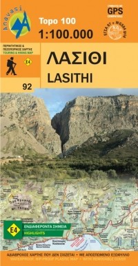 Wandelkaart Topo 100 Crete-Lasithi (92)