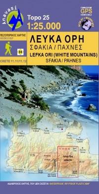 Wandelkaart Topo 25 Kreta Lefka Ori-Sfakia - Pahnes 1:25.000 (11.11/11.12)