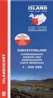 Wegenkaart IJsland/Southwest Iceland 1:300.000