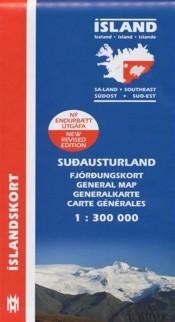 Wegenkaart IJsland/Southeast Iceland 1:300 000