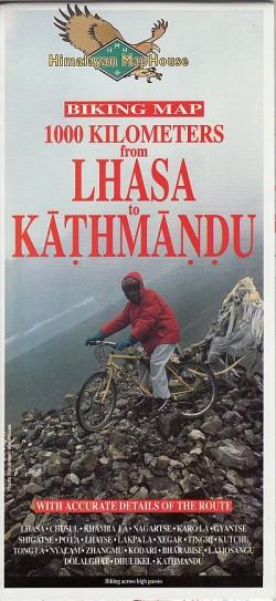Biking Map 1000 Kilometers from Lhasa to Kathmandu 1:400.000