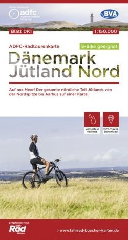 Fietskaart Dänemark Jütland Nord Blatt DK1