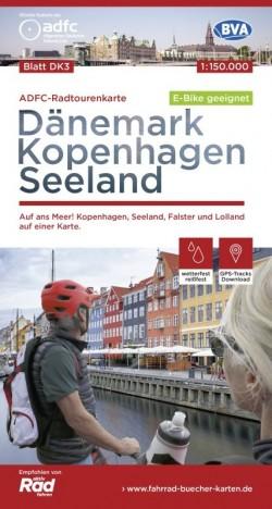 Fietskaart Dänemark Kopenhagen/Seeland/Lolland Blatt DK3