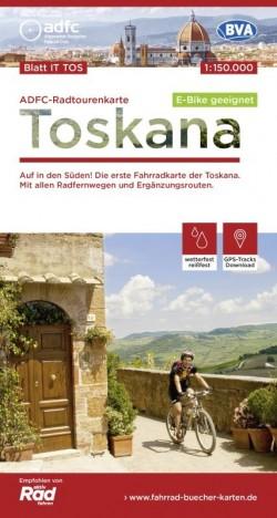 Fietskaart ADFC Radtourenkarte Toskana 1:150.000 (2020)