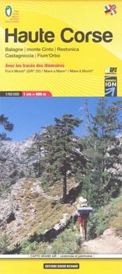 Wandelkaart Carte 08 Haute-Corse 1:60.000