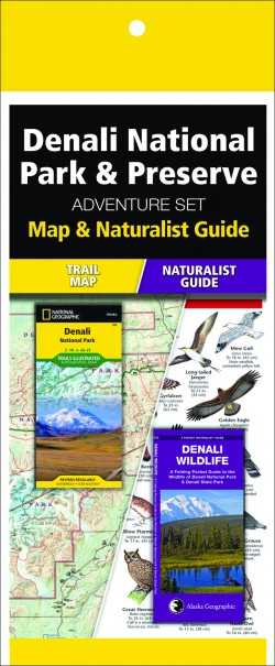 Denali National Park & Preserve Adventure Set (Map & Naturalist Guide)