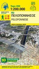 Wegenkaart Griekenland Topo 200 R2 Peloponnese 1:200.000