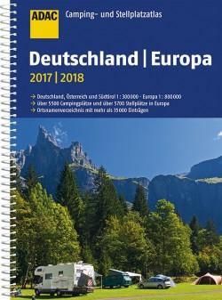 ADAC Camping- und Stellplatzatlas Deutschland | Europa 2017-2018 1:300.000/1:800.000