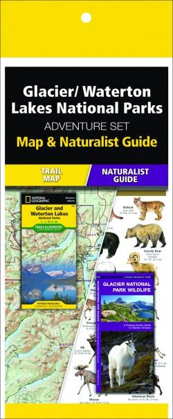 Glacier/Waterton Lakes National Park Adventure Set (Map & Naturalist Guide)