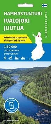 Outdoor Map Hammastunturi Ivalojoki Juutua 1:50.000
