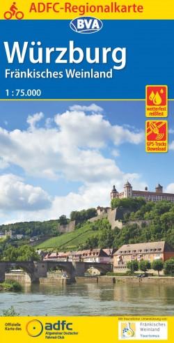 ADFC Regionalkarte Würzburg Fränkisches Weinland 1:75.000 (2016)