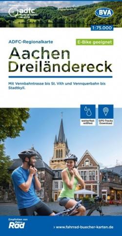 Fietskaart BVA/ADFC Regionalkarte Aachen-Dreiländereck 1:75 000 7.A 2020