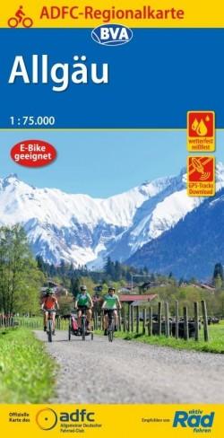 Fietskaart BVA-ADFC Regionalkarte Allgäu 1:75.000 (8.A 2020)