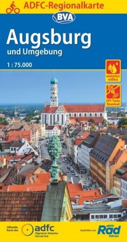 BVA-ADFC Regionalkarte Augsburg und Umgebung 1:75.000 (2019)