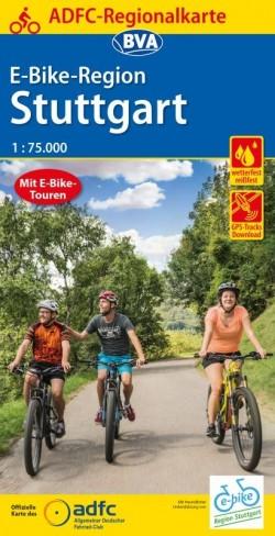 ADFC Regionalkarte E-Bike-Region Stuttgart 1:75.000