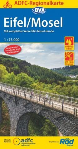 Fietskaart BVA-ADFC Regionalkarte Eifel/Mosel 1:75.000 (7.A 2019)
