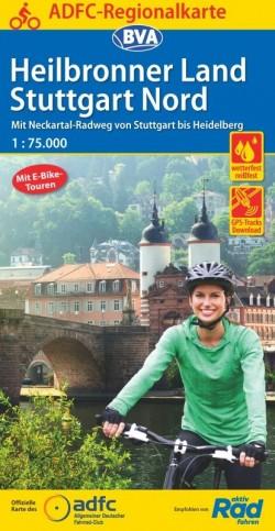 ADFC-Regionalkarte Heilbronner Land/Stuttgart Nord 1:75.000 (2.A 2020)