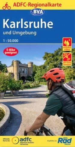 BVA-ADFC Regionalkarte Karlsruhe und Umgebung 1:50.000 (4.A 2020)